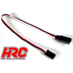 HRC9231 Prolongateur de servo – Mâle/Femelle - UNI (FUT & JR) type - 20cm Long