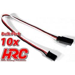 HRC9231B Prolongateur de servo – Mâle/Femelle - UNI (FUT & JR) type - 20cm Long - BULK 10 pces
