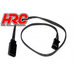 HRC9232K Prolongateur de servo – Mâle/Femelle - UNI (FUT) type - 30cm Long – Noir/Noir/Noir