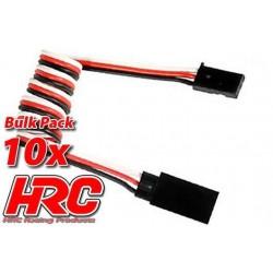 HRC9234B Prolongateur de servo – Mâle/Femelle - UNI (FUT & JR) type - 50cm Long - BULK 10 pces