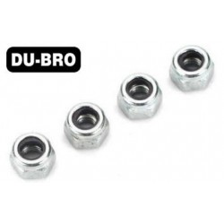 DUB2102 Nuts - 4mm Nylon Insert Lock Nuts (4 pcs per package)