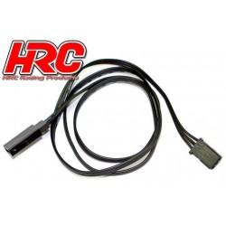 HRC9235K Prolongateur de servo – Mâle/Femelle - UNI (FUT) type - 60cm Long – Noir/Noir/Noir