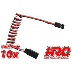 HRC9236B Prolongateur de servo – Mâle/Femelle - UNI (FUT & JR) type - 80cm Long - BULK 10 pces