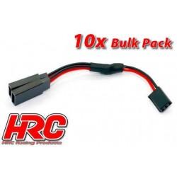 HRC9239SB Câble - Y - UNI (FUT) type - Court 6cm - BULK 10 pces