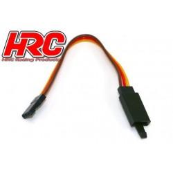 HRC9240CL Prolongateur de servo - avec Clip – Mâle/Femelle - JR type - 10cm Long