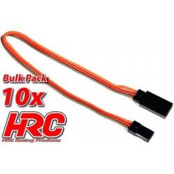 HRC9241B Prolongateur de servo – Mâle/Femelle - JR type - 20cm Long - BULK 10 pces