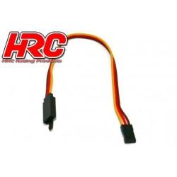 HRC9241CL Prolongateur de servo - avec Clip – Mâle/Femelle - JR type - 20cm Long