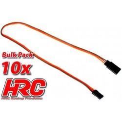 HRC9242B Prolongateur de servo – Mâle/Femelle - JR type - 30cm Long - BULK 10 pces