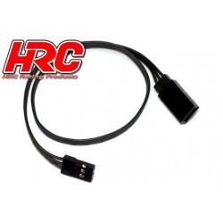 HRC9242K Prolongateur de servo – Mâle/Femelle - JR type - 30cm Long – Noir/Noir/Noir