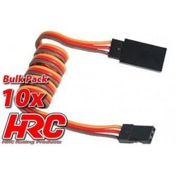 HRC9243B Prolongateur de servo – Mâle/Femelle - JR type - 40cm Long - BULK 10 pces
