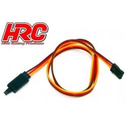 HRC9244CL Prolongateur de servo - avec Clip – Mâle/Femelle - JR type - 50cm Long