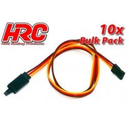 HRC9244CLB Prolongateur de servo - avec Clip – Mâle/Femelle - JR type - 50cm Long - BULK 10 pces