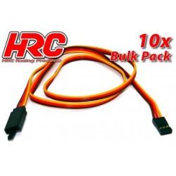 HRC9245CLB Prolongateur de servo - avec Clip – Mâle/Femelle - JR type - 60cm Long - BULK 10 pces