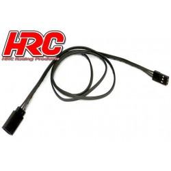 HRC9245K Prolongateur de servo – Mâle/Femelle - JR type - 60cm Long – Noir/Noir/Noir