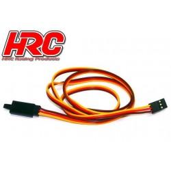 HRC9246CL Prolongateur de servo - avec Clip – Mâle/Femelle - JR type - 80cm Long