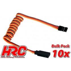 HRC9247B Prolongateur de servo – Mâle/Femelle - JR type - 100cm Long - BULK 10 pces