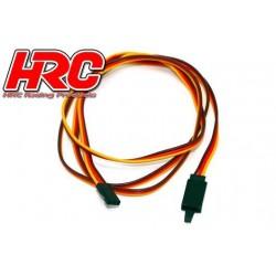 HRC9247CL Prolongateur de servo - avec Clip – Mâle/Femelle - JR type - 100cm Long