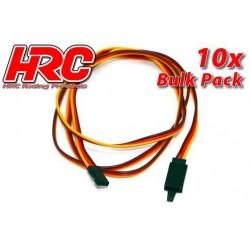 HRC9247CLB Prolongateur de servo - avec Clip – Mâle/Femelle - JR type - 100cm Long - BULK 10 pces