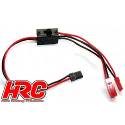 HRC9253 Interrupteur - On/Off - Prise BEC/JR - avec cable de charge