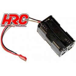 HRC9271A Boitier de piles - AA - 4 éléments – Carré - avec connecteur BEC