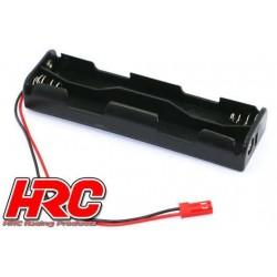 HRC9271C Boitier de piles - AA - 4 éléments - Long (2*2) - avec connecteur BEC