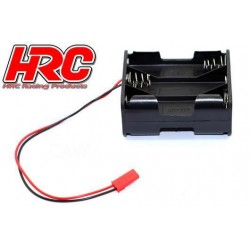 HRC9271D Boitier de piles - AA - 6 éléments - Carré - avec connecteur BEC