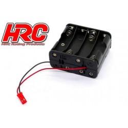 HRC9271F Boitier de piles - AA - 8 éléments - Carré - avec connecteur BEC