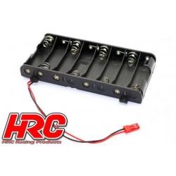 HRC9271G Boitier de piles - AA - 8 éléments - Plat - avec connecteur BEC