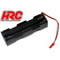 HRC9271H Boitier de piles - AA - 8 éléments – Carré Long - avec connecteur BEC