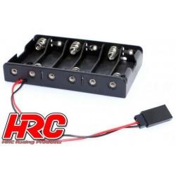 HRC9272E Boitier de piles - AA - 6 éléments - Plat - Prise UNI (FUT & JR)
