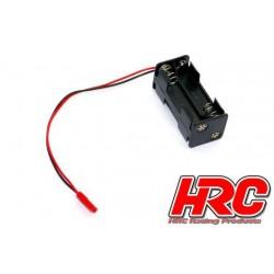 HRC9273A Boitier de piles - AAA - 4 éléments – Carré - avec connecteur BEC