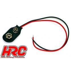 HRC9279 Câble d'accu - pour batterie 9V