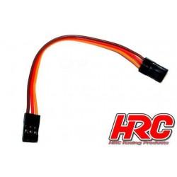 HRC9290 Prolongateur de variateur - Mâle/Mâle - JR type - 10cm Long