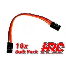 HRC9290B Prolongateur de variateur – Mâle/Mâle - JR type - 10cm Long - BULK 10 pces