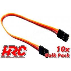 HRC9291B Prolongateur de variateur – Mâle/Mâle - JR type - 20cm Long - BULK 10 pces