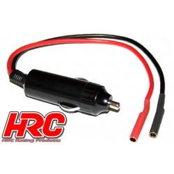 HRC9309 Accessoire de chargeur - Adapteur allume-cigare 12V à prise Gold 4mm