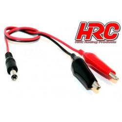 HRC9311 Accessoire de chargeur - Cable d'alimentation 12V avec prise crocodile