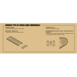 TRU02044 TRUMPETER Chinese Type 83 Track Links 1/35