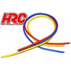 HRC9512E Câble - TSW Pro Racing - 12 Gauge / 3.3mm2 - Argent (680 x 0.08) - Bleu / Orange / Jaune (50cm chaque)