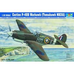 TRU02228 TRUMPETER Curtiss P40B Warhawk 1/32
