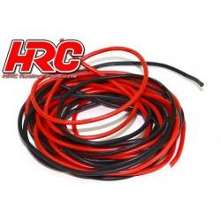 HRC9591F Câble - 22 Gauge / 0.33mm2 - Rouge et Noir - Plat (2m)