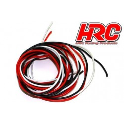HRC9592F Câble - 22 Gauge / 0.33mm2 - White, Rouge et Noir - Plat (2m)
