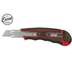 EXL16815 Outil - Cutter utilitaire - K815 - Heavy Duty - Manche soft – Réservoir - avec 5 lames fractionnables en 7 points