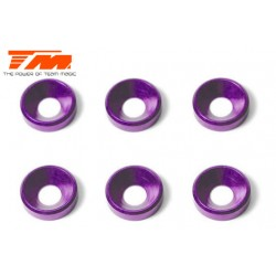 TM111004P Rondelles - coniques - Aluminium - 4mm - Purple (6 pces)