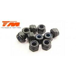 TM111007ST Ecrous - M3 nylstop - acier (10 pces)