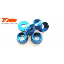 TM111041B Rondelles - Vis tête cylindrique - Aluminium - 3 x 7mm - Bleu (6 pces)