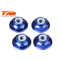 TM111098B Ecrous - 8-32 nylstop - Aluminium - Bleu (4 pces)