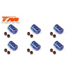 TM111146B Bagues d'Arrêt - Double - Aluminium - Bleu (6 pces)