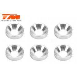 TM111162 Rondelles - coniques - Aluminium - 3.5mm (6 pces)