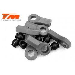 TM115001BK Chapes et Rotules - Noir - 6 pces